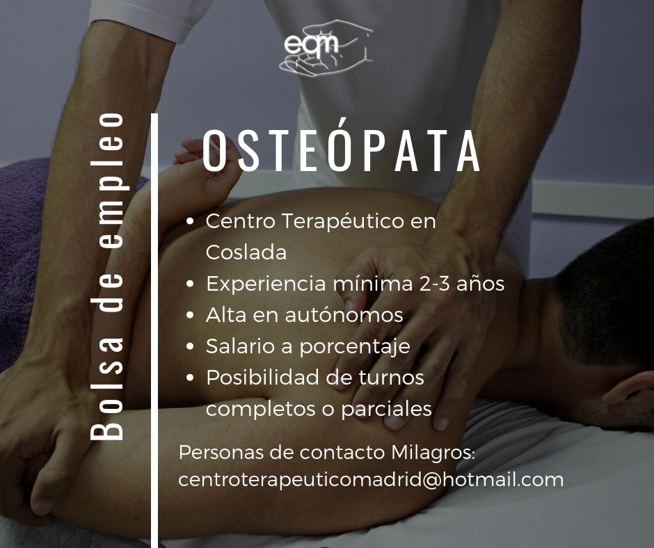 empleo osteopata